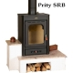 Semineu combustibil solid PRITY SRB, Lungime 49 cm, 11 kw