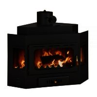 Semineu combustibil solid Prity A, Latime 65 cm, 14 kw