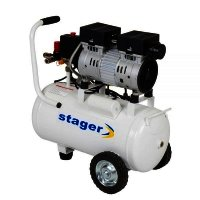 Compresor aer silentios STAGER HM24JW-0.55, 220V/50Hz, 0.75HP, 24L