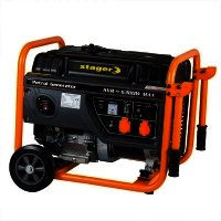 Generator open frame STAGER benzina, GG 7300+W, 5.8 kW, 25 l