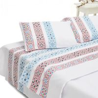 Lenjerie de pat dubla 100% bumbac, King Size, Heinner, HR-4BED132-TRD, 4 piese, Model Traditional