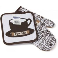 Set bucatarie, Bumbac, Heinner, HR-HKS2-CFEE, 2 piese, Cafea